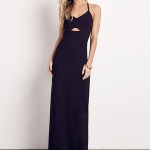ALI & JAY Step And Repeat Black Cut Out Maxi Dress